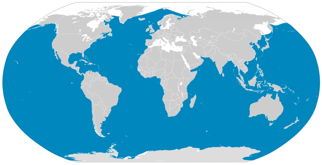 World Map Of Where Whales Live Choice Image - Diagram ...
